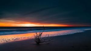 Nature Sunset Horizon Beach 2048x1366 Wallpaper