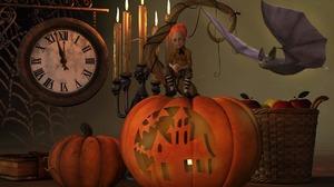 Bat Clock Elf Halloween Jack O 039 Lantern Pumpkin 1920x1280 Wallpaper