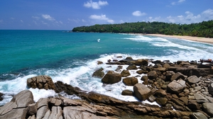 Coastline Ocean Rock 2560x1600 wallpaper