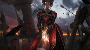 Artwork Fantasy Art Nixri Women Elves Elf Ears World Of Warcraft Horde 1654x1167 Wallpaper