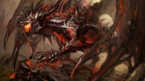 Dark Fantasy Dragon Deathwing World Of Warcraft 1920x1080 wallpaper