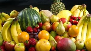 Apple Banana Fruit Mango Pear Pineapple Strawberry 2600x1730 Wallpaper