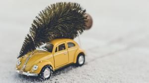Toys Car Yellow Cars Vehicle Volkswagen Beetle Miniatures Depth Of Field 3840x2160 wallpaper