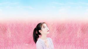 IU K Pop Korean Women Makeup Music Women Asian Dark Hair Looking Up 2048x1152 Wallpaper