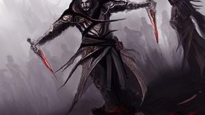 Assassin Blood Dagger Man Warrior 4325x3645 Wallpaper