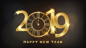 Clock Happy New Year New Year 2019 4168x2606 Wallpaper