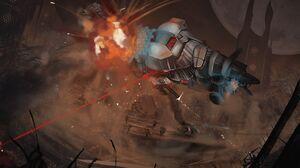 Explosion Force Field Sci Fi Soldier Vehicle War 3000x2000 Wallpaper