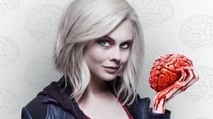 Actress Brain Green Eyes Liv Moore Rose Mciver White Hair Zombie Izombie 2560x1440 wallpaper