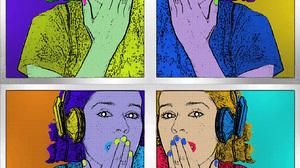 Artwork Digital Art Andy Warhol Pop Art Ana Name Light Blue Tribute Argentina Illustration Photoshop 1342x1440 wallpaper