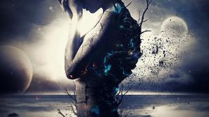 Artistic Dark Woman 5120x2880 Wallpaper