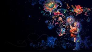 Artistic Child Colorful Colors Flower Girl Little Girl Stuffed Animal Teddy Bear 1920x1190 Wallpaper