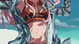 ZZL Artist Darling In The FranXX Nail Polish Long Hair Anime Girls Long Earings Zero Two Darling In  3500x4761 Wallpaper