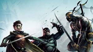 Batman Dc Comics Deathstroke Robin Dc Comics 2844x1600 Wallpaper