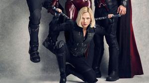 Black Widow Natasha Romanoff Scarlett Johansson 5000x2813 wallpaper