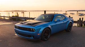 Blue Car Car Dodge Dodge Challenger Dodge Challenger Srt Muscle Car Vehicle 3000x2001 Wallpaper
