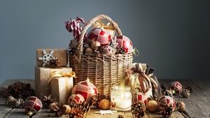 Candle Christmas Christmas Ornaments Gift 3872x2592 Wallpaper