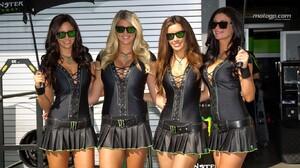 Moto GP Stefan Bradl Jorge Lorenzo TVS Apache Monster Energy Short Skirt Black Clothing Black Clothe 1366x768 Wallpaper