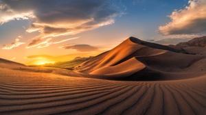 Cloud Desert Dune Nature Sand Sky 3840x2160 Wallpaper