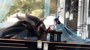 Lan Wangji Lan Zhan Wei Ying Wei Wuxian 2704x1080 Wallpaper