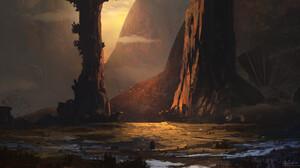 Fantasy Landscape 2299x1200 wallpaper