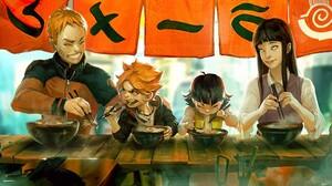 Uzumaki Naruto Uzumaki Boruto Hyuuga Hinata Naruto Shippuuden Uzumaki Himawari 1800x857 Wallpaper