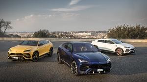 Blue Car Car Lamborghini Lamborghini Urus Luxury Car Suv Vehicle White Car Yellow Car 3543x2362 Wallpaper