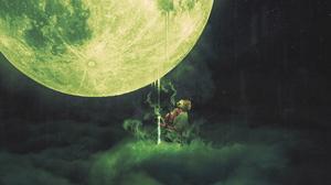 Gas Mask Moon Smoke 3840x2160 Wallpaper