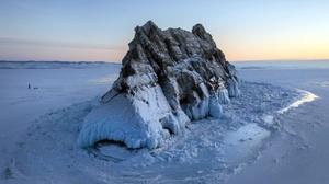 Nature Rock Rock Formation Winter Ice Cold Landscape Lake Baikal 2560x1572 Wallpaper