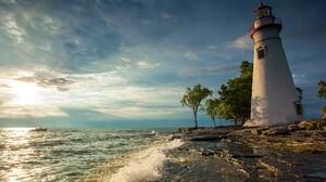 Ocean Sea Tree Horizon 1920x1200 Wallpaper