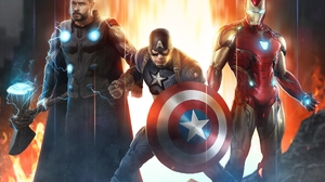 Avengers Endgame Captain America Iron Man Marvel Comics Thor 1920x1490 Wallpaper