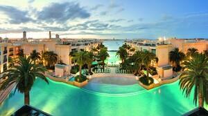 Pool Resort Tropical 1920x1080 wallpaper