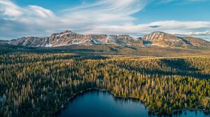 Landscape Lake Forest Mountains Nature 3000x1999 Wallpaper