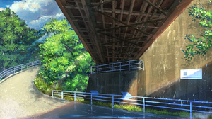Bakawasima Bridge Fence Trees Under Bridge Path Clouds 1608x1000 wallpaper