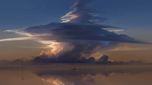 Anime Landscape 2831x1080 wallpaper