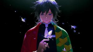 Kimetsu No Yaiba Demon Slayer Kimetsu No Yaiba Giyu Tomioka Kimetsu No Yaiba Butterfly Blue Eyes Ani 3840x2160 Wallpaper