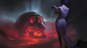 Girl Skull Woman 6000x4301 Wallpaper