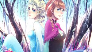 Anna Frozen Elsa Frozen Frozen Movie Snow 2400x1774 Wallpaper