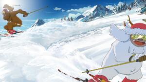 Oregon Portland Travel Oregon Studio Ghibli Hayao Miyazaki Yeti Sasquatch Squatch Digital Painting L 3042x1093 Wallpaper