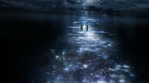 Boy Cloud Girl Reflection Space Stars 1936x1209 Wallpaper