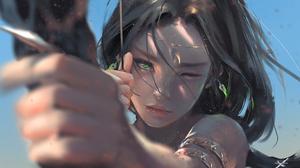 Aeolian Ghostblade Archer Elf Fantasy 3985x2316 wallpaper