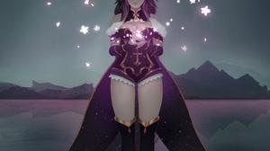 Anime Anime Girls Original Characters Lady Lunairi Virtual Youtuber Horns Lake Moon Aoi Ogata Vertic 1427x1897 Wallpaper