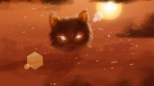 Cats Sun Sunset Desert Clouds Sand Flares 3840x2160 Wallpaper