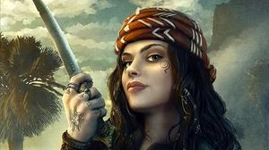 Pirate Sword Tattoo Woman Woman Warrior 1800x1350 Wallpaper