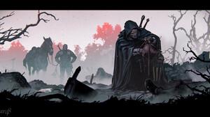 Division48 Studio Vesemir Roach Geralt Of Rivia Screen Shot Video Games The Witcher 3 Wild Hunt The  2579x1312 wallpaper