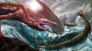 Boat Dragon Drakkar Viking 1920x1080 Wallpaper