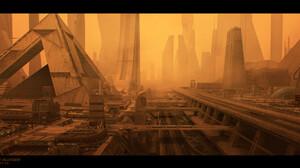 Blade Runner Blade Runner 2049 Movies Artwork Pyramid Futuristic Futuristic City Sphinx Industrial 1920x967 Wallpaper