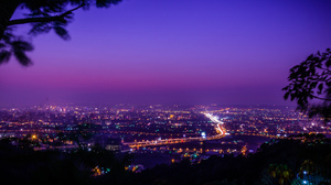 City Cityscape Lights Taiwan Night Panorama Taichung Sky 2048x1152 Wallpaper