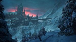 Winter Snow Mountain Bridge 1920x1080 Wallpaper