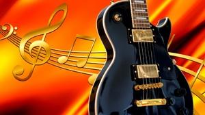 Artistic Guitar Musical Note 2587x1496 Wallpaper