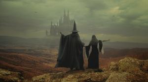 Digital Art Artwork Fantasy Art Sergii Vidov Gandalf Fictional Character The Lord Of The Rings Castl 2500x1687 Wallpaper